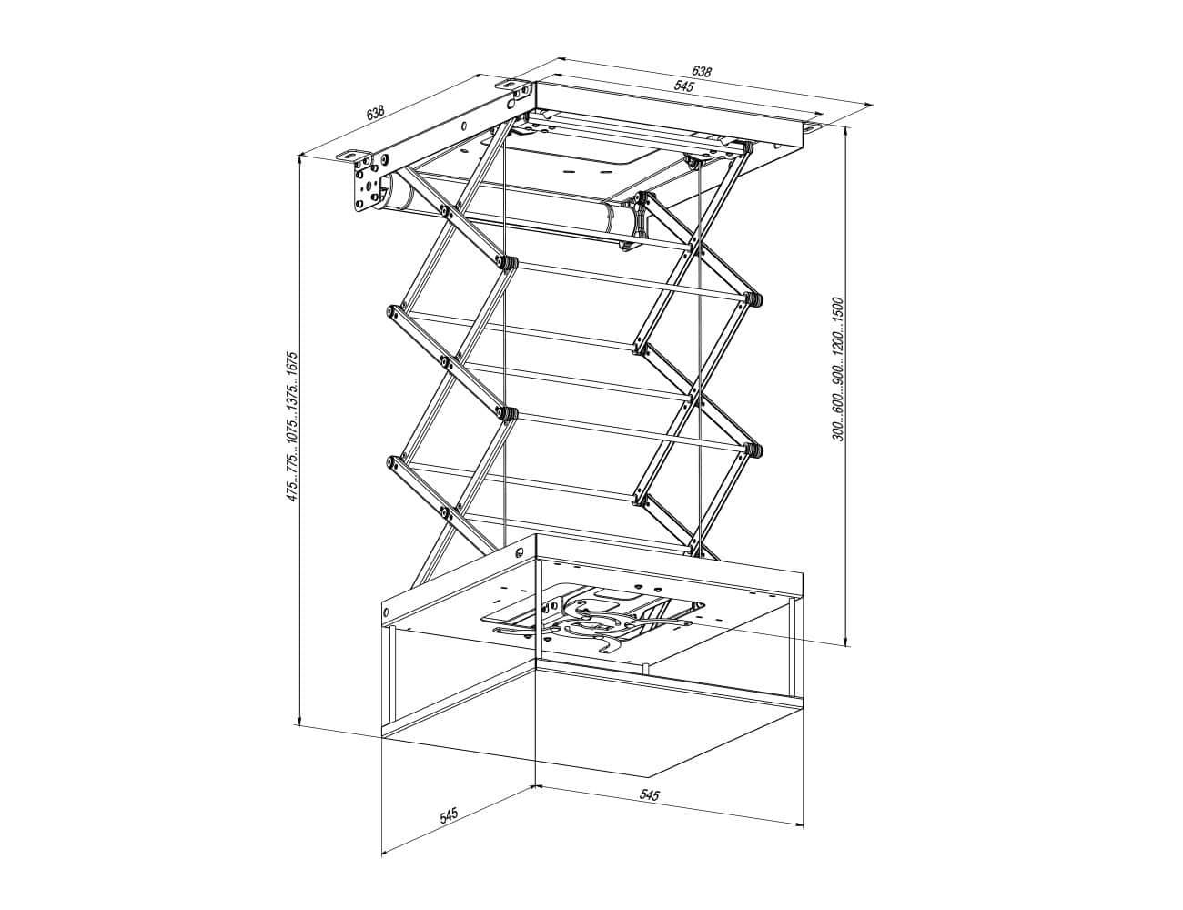 Ліфт для проектора KSL LPR
