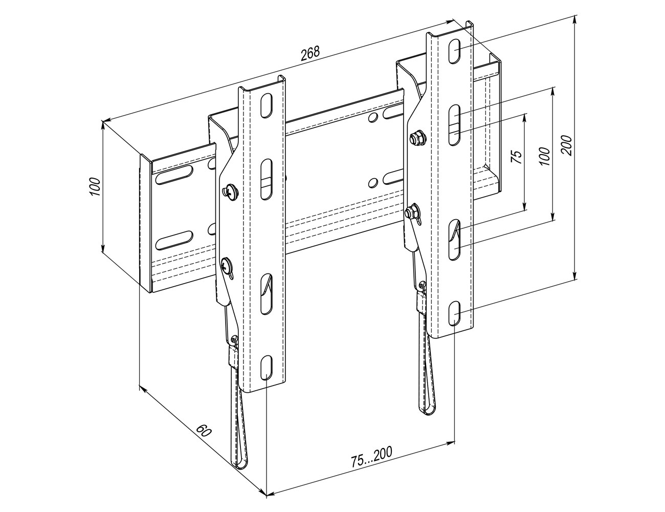 Tilted Wall Mount WMO-5121N