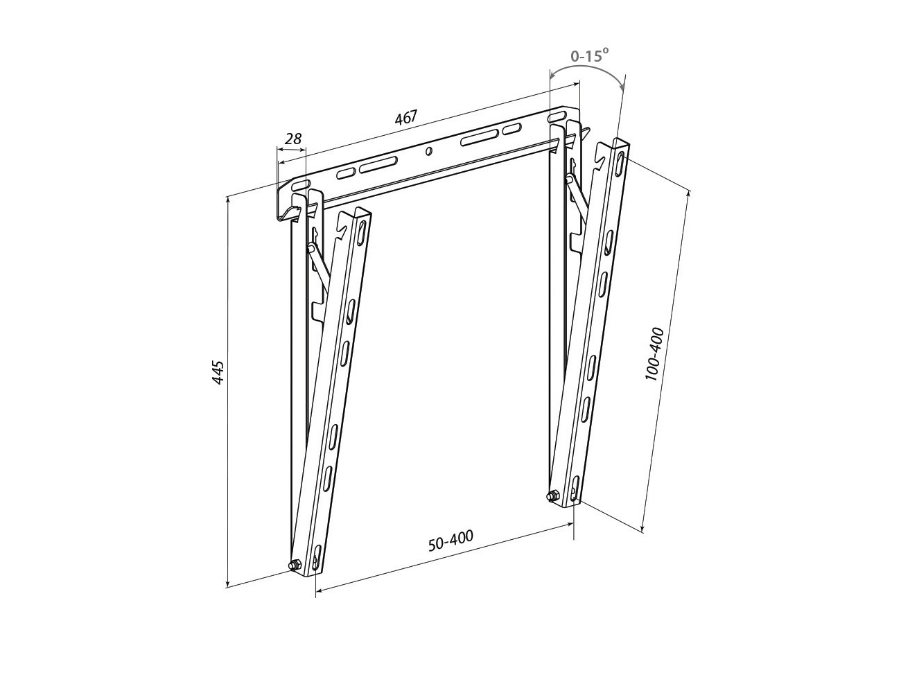 Tilted Wall Mount WMO-6341N