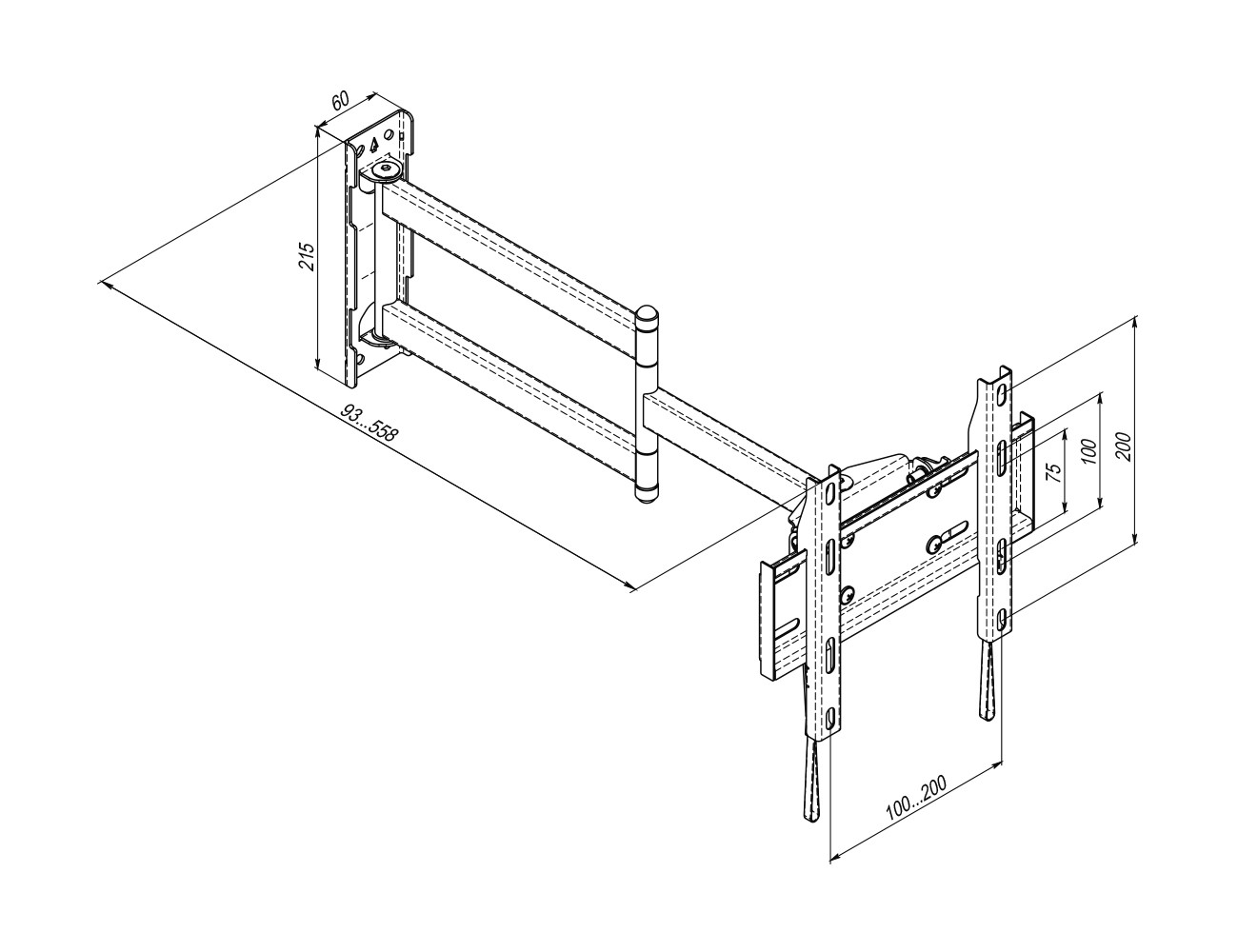 Articulating TV Wall Mount 28ET